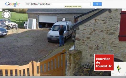 Street view en anjou il urine dans son jardin et attaque for Google jardin
